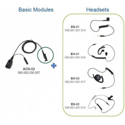 Sada ACN-02 ovladač PTT+mikrofon pro sluchátka